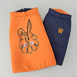 위드토리 미라클 강아지 패딩 점퍼(네이비&오렌지)