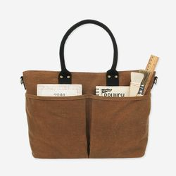 아띠백 - 4 Pocket 3 Way Bag (Wax Canvas Camel)