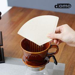 도모 프리미엄 브라운 커피여과지 3-4인용 100매