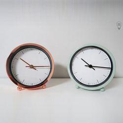 원스 저소음 로즈골드 민트 디자인 탁상시계