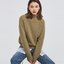 twist half neck lambswool knit