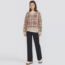 one day tartan check knit