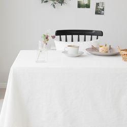 크로에 린넨식탁보-아이보리-6인용(220x130)