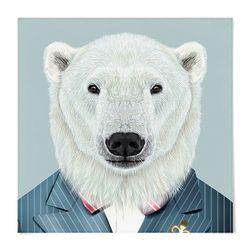 패브릭 포스터 S053 그림 동물 친구 북극곰 [중형]