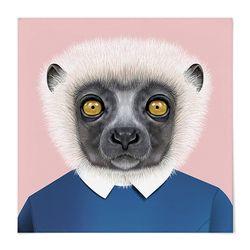 패브릭 포스터 S057 동물 친구 여우 원숭이 [중형]