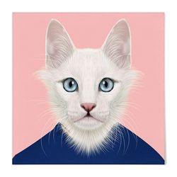 패브릭 포스터 S067 액자 동물 친구 고양이 [중형]