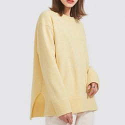 pale tone slit wool knit