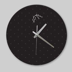 [디자인 시계]블랙 심플 물병자리