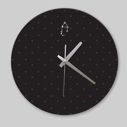 [디자인 시계]블랙 심플 천칭자리