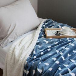 포레스트 네이비 밍크 블랑켓 담요 (160x210cm)