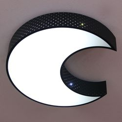 boaz 문라이트 방등 검-백 거실등 LED 인테리어 조명