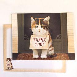 일러스트카드-Thankful kitten