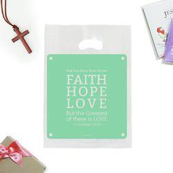 선물포장 비닐백(중)-Faith Hope Love (20매)