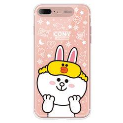 라인프렌즈 iPhone8 7Plus 18 1ST 미러 라이팅 케이스