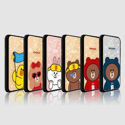 라인프렌즈 iPhoneX 18 1ST Slide 미러 라이팅 케이스