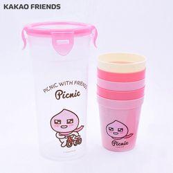 카카오프렌즈 피크닉 컵 5p세트 (어피치)