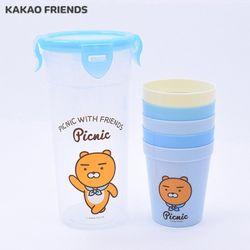 카카오프렌즈 피크닉 컵 5p세트 (라이언)