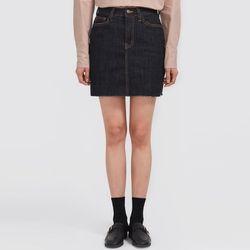 acting denim mini skirt (s m)