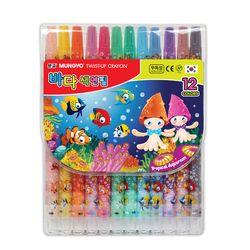 문교 바다 샤프식 색연필 12색