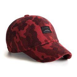 BASIC BK CAMO CAP RED