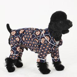 [옵션가확인후오픈] 러브핫핏 스윗 홈웨어 강아지 셔츠 네이비