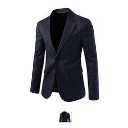 [쿨룩] 남성 싱글 투버튼 글렌체크 정장 자켓 NIFJ22