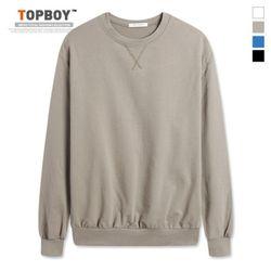 삼각 무지 오버핏 맨투맨 티셔츠 (NS478)