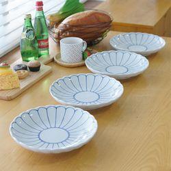 일본산 로터스 접시 대 4P세트