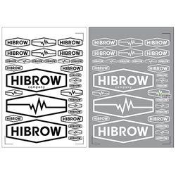 하이브로우 투명원단 블랙 화이트 스티커