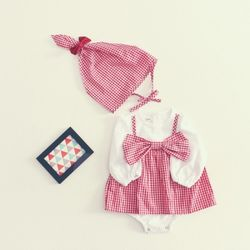 SS스카프리본체크슈트세트(baby)