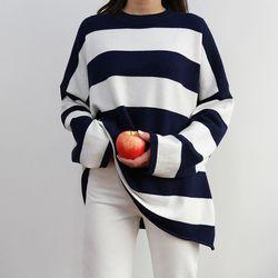 Boxy stripe knit