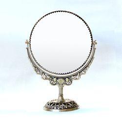 필리-메탈 원형 스텐딩 거울-라지