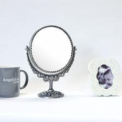 필리-메탈 원형 스텐딩 거울-스몰