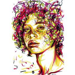 Freckled girl