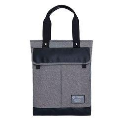 [알파럭션] two pocket tote bag - TR1804-DENIM GREY