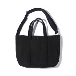 CANVAS BASIC TOTE-ALL BLACK