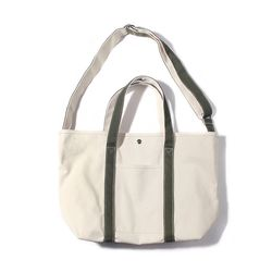 CANVAS BASIC TOTE-NATURAL.OLIVE