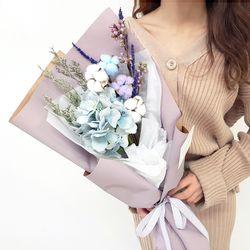 수국 목화 꽃다발