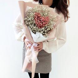 하트 안개 꽃다발