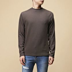 [매트블랙] 두빈 기본 니트 티셔츠