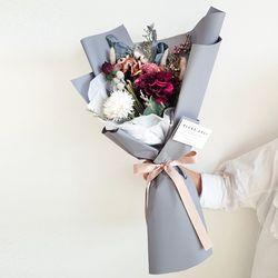 리시안 그레이 꽃다발 + 화병