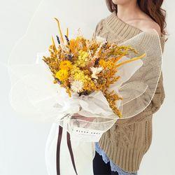 샤인 옐로우 꽃다발 + 화병