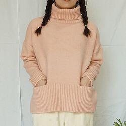 츄즈바이무드 츄바무 POCKET 소프트니트 17FW121