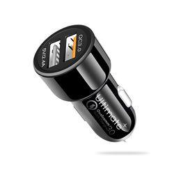 Ultimate 차량용 퀄컴 QC3.0 2포트 고속충전기+케이블