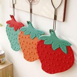 뉴 실리콘 딸기 냄비받침(4color)