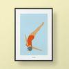 유니크 인테리어 디자인 포스터 M 다이빙 A3(중형)