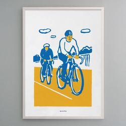 유니크 인테리어 디자인 포스터 M 라이딩 A2(대형)