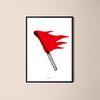 유니크 인테리어 디자인 포스터 M 버닝 A3(중형)