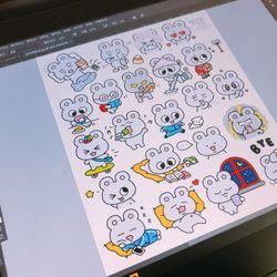 [4주정규] 룸룸_나만의 손그림으로 다꾸용 스티커 제작하기