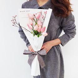 델피 튤립 꽃다발